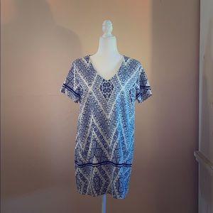 ANGL Print Shift Dress
